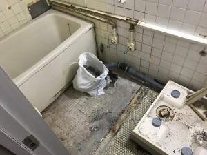 マンション浴室リフォーム施工前