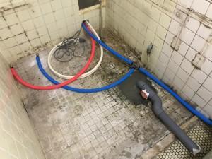 マンション浴室リフォーム施工中