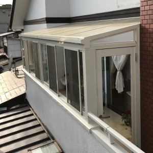 仙台リフォーム 戸建てにサンルームを新設、施工後