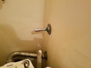 排水レバーと連動して水量を自動調節するフラッシュバルブの不具合