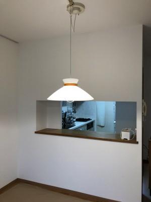 リビング キッチン側 天井・壁クロス張り替え